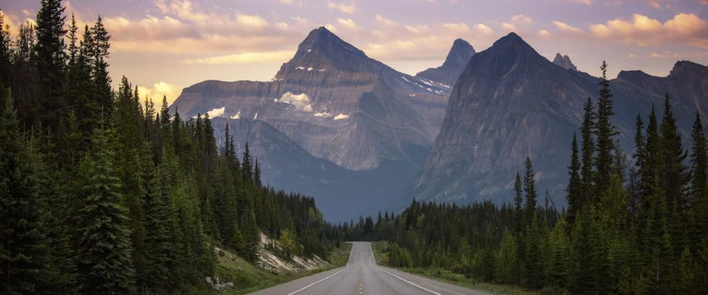 Icefields Parkway in Jasper National Park