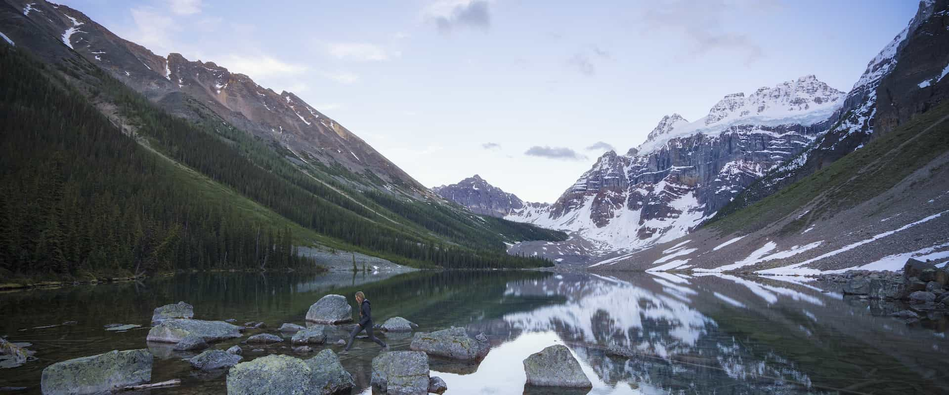 Hike to Consolation Lakes and see Moraine Lake on a guided hiking tour with Discover Banff Tours