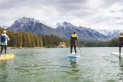 See Banff from the water on an SUP lake tour