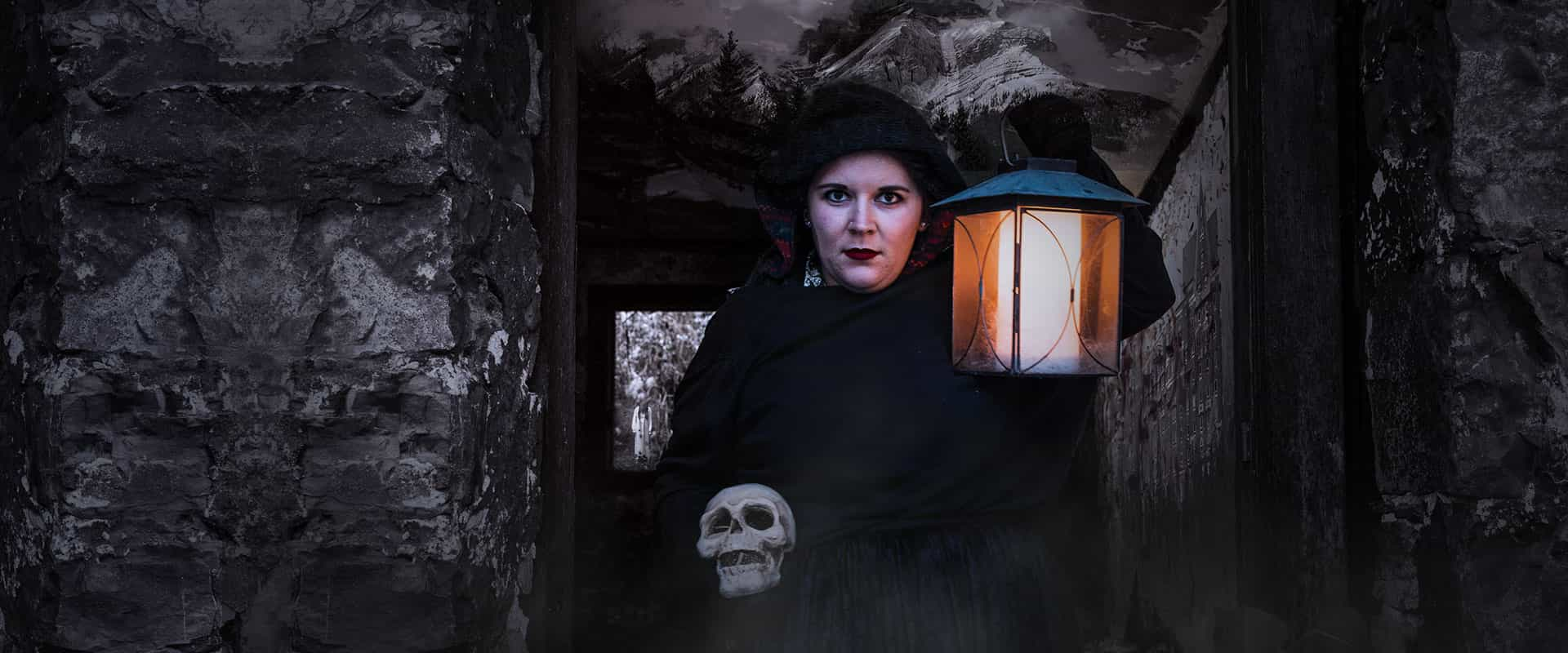 Take a Banff ghost tour led by an interpretive guide