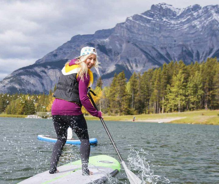Take a fun SUP group tour in Banff