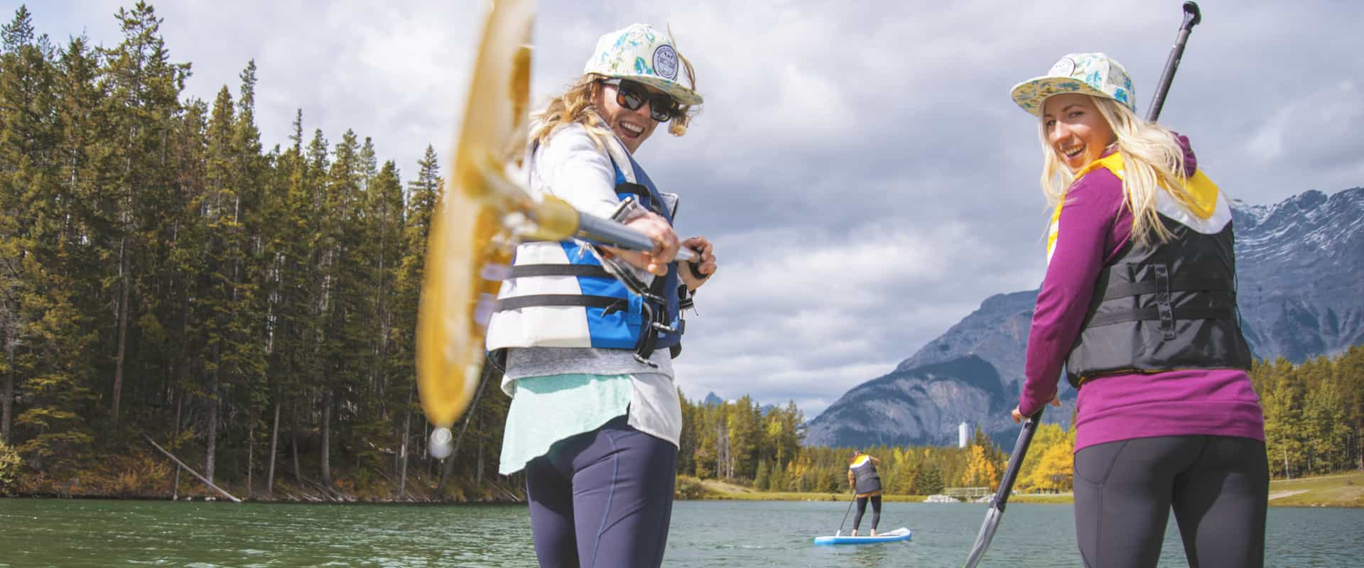 Take an easy SUP tour in Banff