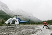 Stop for a sightseeing visit on an Icefields flight with Rockies Hel