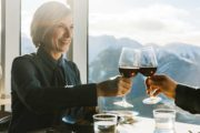 Enjoy fine dining at the Banff Gondola Sky BIstro