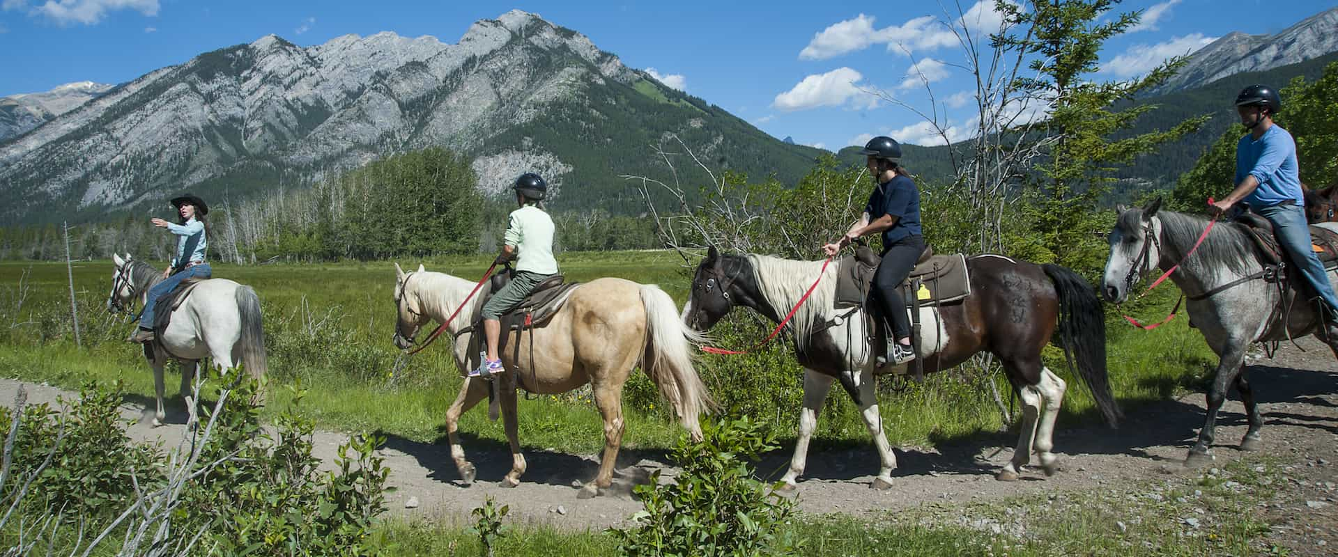Explore Banff on the Bow River horseback ride with Discover Banff Tours in the Canadian Rockies