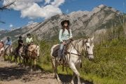 Take a Banff horseback ride with your friendly guide with Discover Banff Tours in the Canadian Rockies