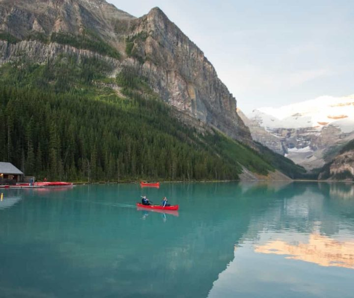 Visit Lake Louise in the evening on the Deluxe Lake Louise Tour