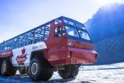 Glacier Adventurer Ice Explorer Bus on the Columbia Icefields Parkway Tour