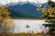 See Banff's fall colours at Vermilion Lake with Discover Banff Tours