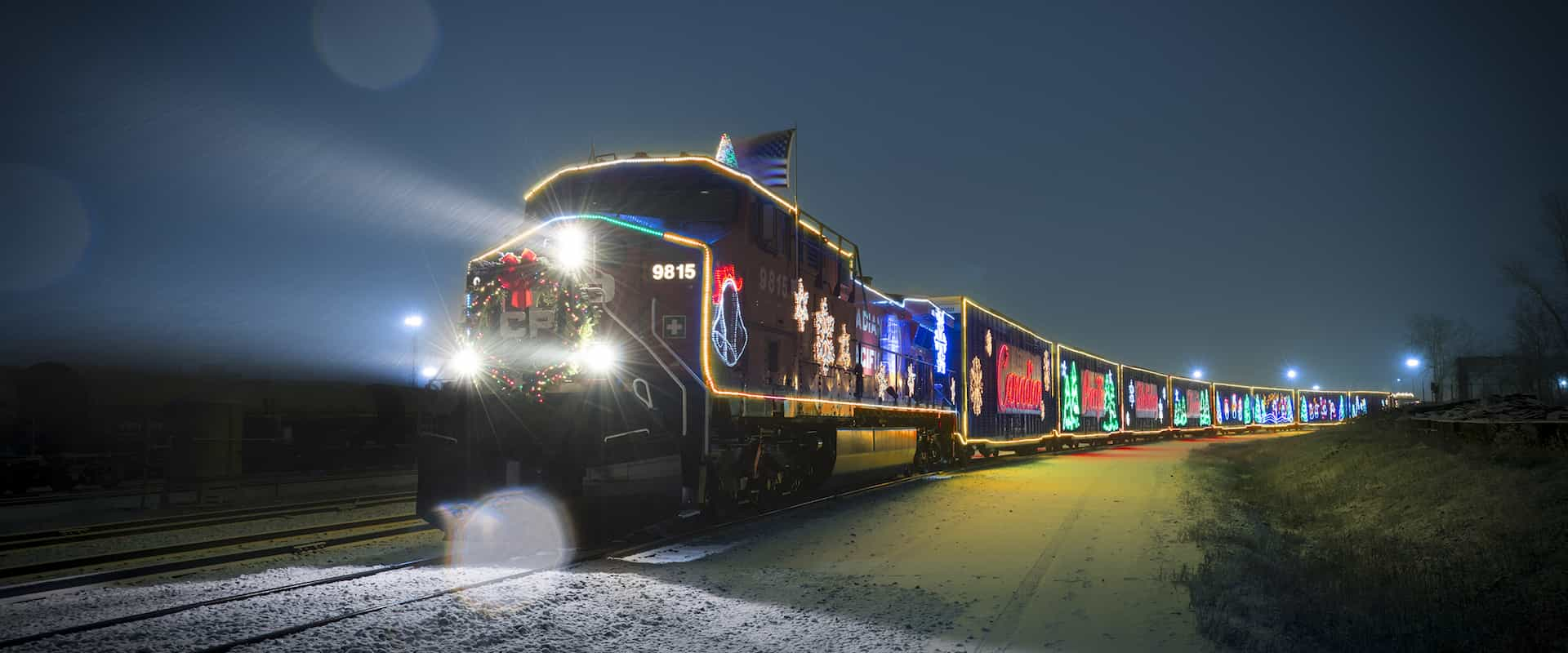 See the CP Holiday Train at Christmas in December in Banff