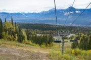 See beautiful views of the Rocky Mountains on the Discover Grizzly Bears Tour chairlift with Discover Banff Tours in the Canadian Rockies