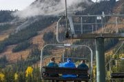 Take the open-air chairlift up to the Grizzly Bear Refuge at Kicking Horse Mountain Resort with Discover Banff Tours in the Canadian Rockies