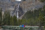 Visit Takakkaw Falls on the Discover Grizzly Bears Tour with Discover Banff Tours in the Canadian Rockies