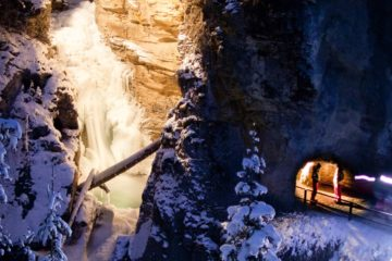 Banff Evening Icewalks at Night with Discover Banff Tours