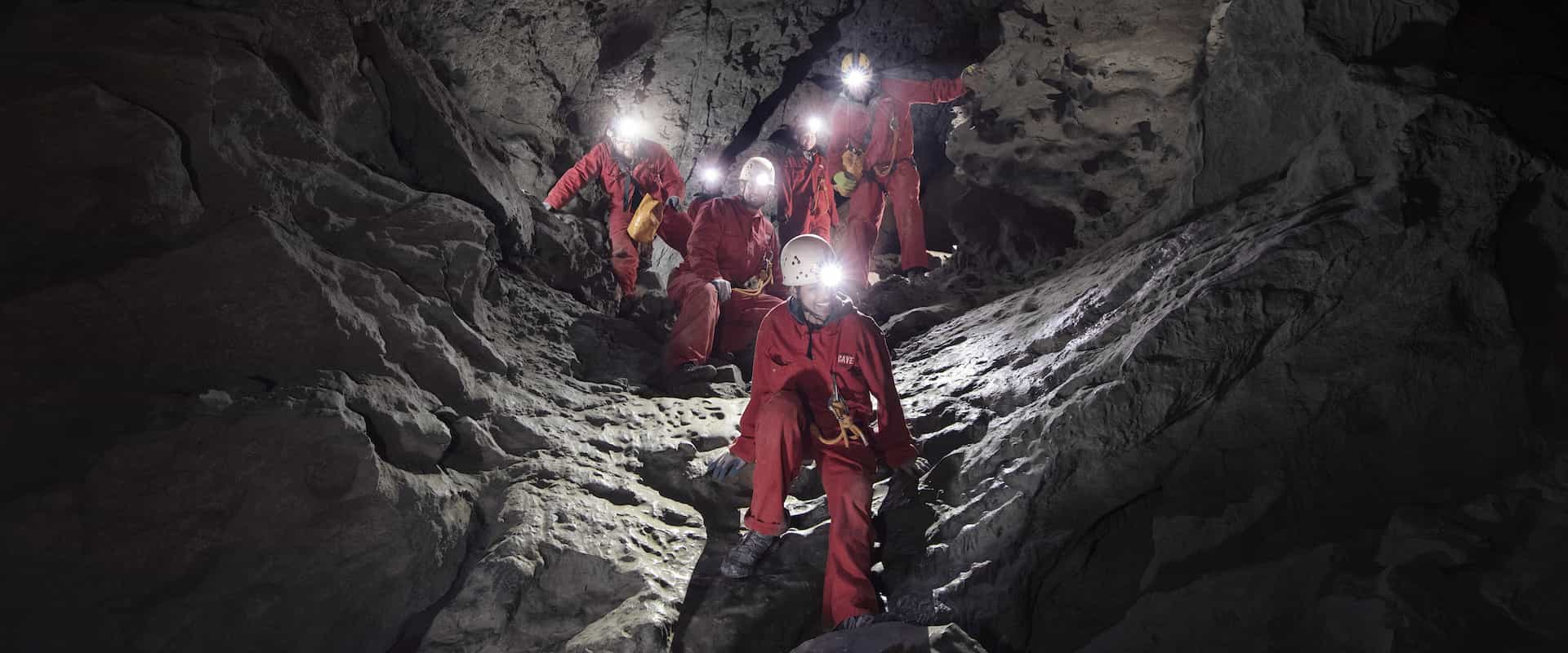 Climb through Rat's Nest Cave on a Canmore Cave Tour