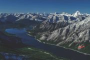 Take a scenic helicopter flight near Banff