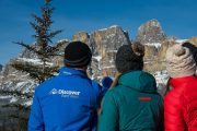 See iconic Castle Mountain on the Discover Lake Louise winter tour with Discover Banff Tours in the Canadian Rockies