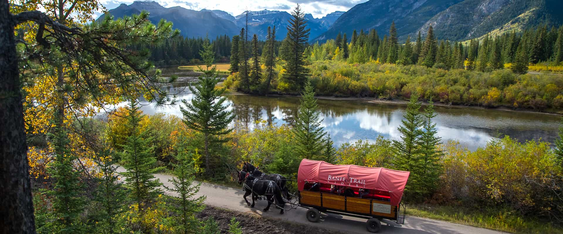 Cowboy Cookout Wagon Ride along the Bow River