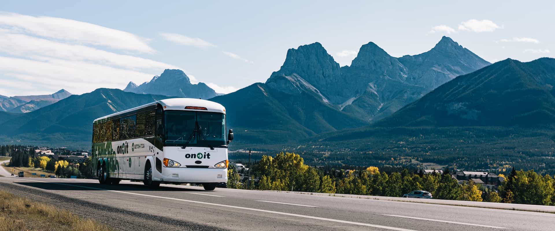 On-It Bus from Calgary to Banff