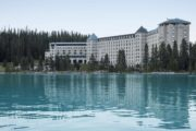 Fairmont Chateau Lake Louise exterior in Banff National Park
