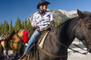 Fun on a horse on the Sundance Overnight Backcountry Lodge Trip