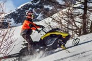 High performance Powder X snowmobile tour