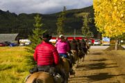 Returning home to Warner Stables on a backcountry vacation