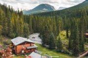 Stay at comfortable and cozy Sundance Lodge on a horseback trip