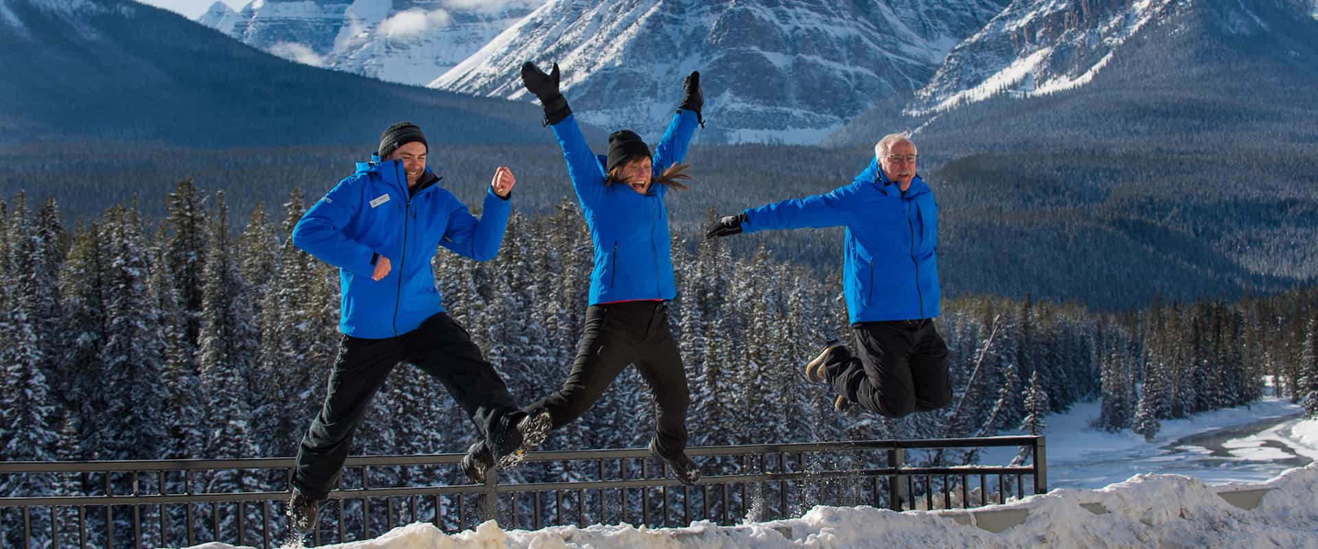 Team of friendly guides with Discover Banff Tours