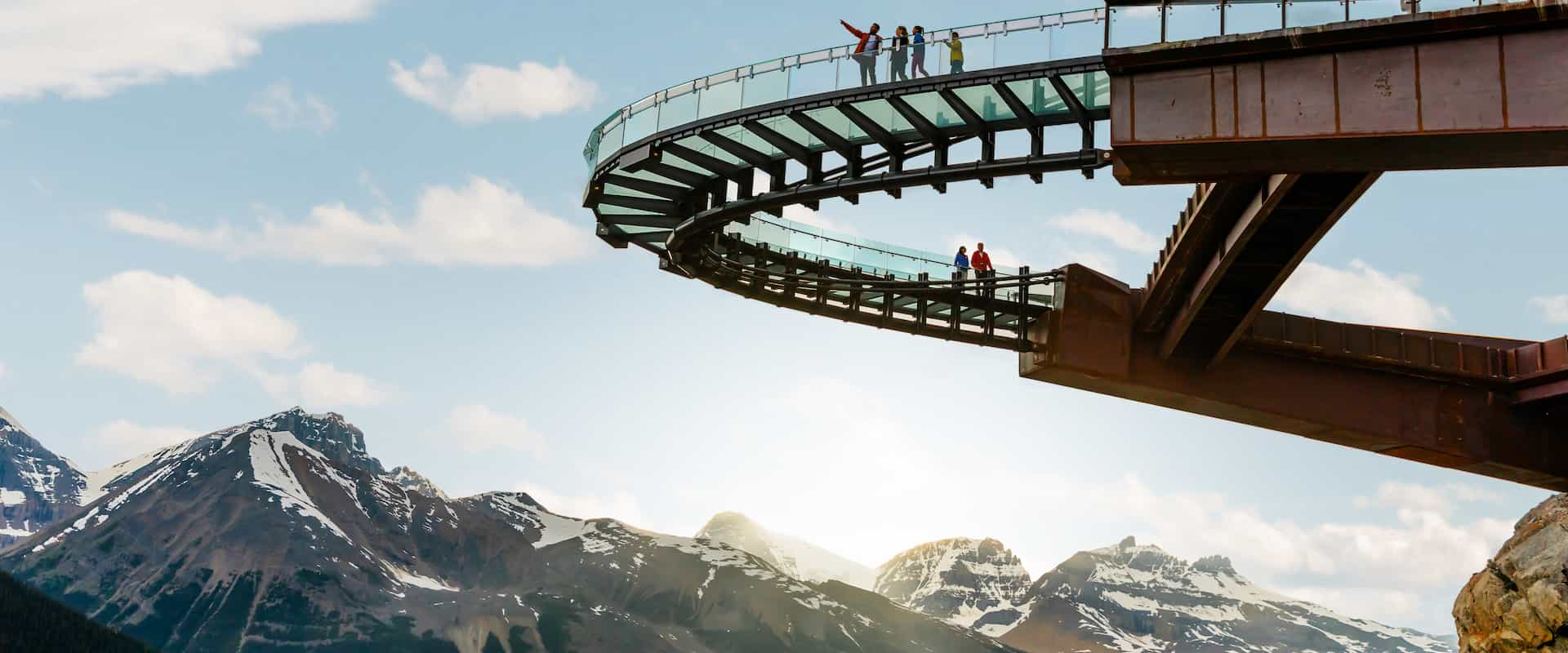 Walk on the glass floor Glacier Skywalk on the Columbia Icefields Parkway Tour