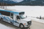 Brewster Express winter shuttle from Calgary to Banff