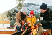 Roast marshmallows in the winter at Warner Stables in Banff
