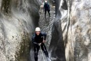 Canyoning at Heart Creek Canyon near Canmore