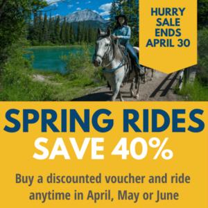40% Spring Horseback Trail Ride Sale