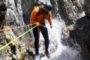 Canyoning at Ghost Canyon in Banff