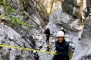 Ghost Canyon Rappel on a Canyoning Tour in Banff
