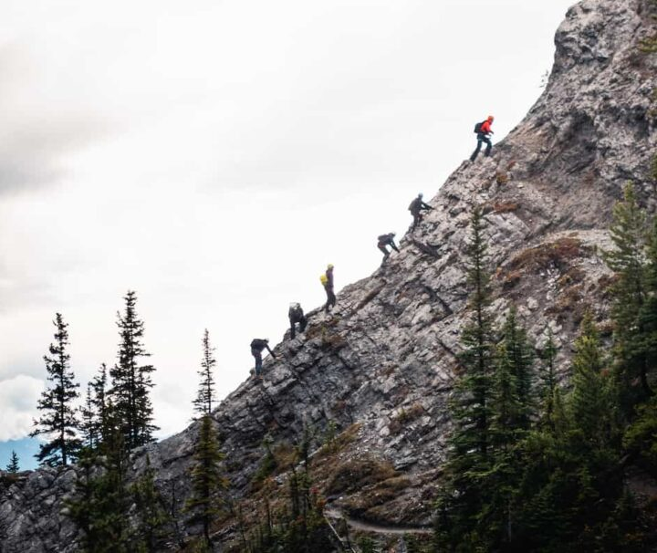 Via Ferrata Alpinist Route at Mt Norquay in Banff