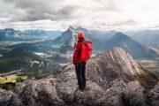 Via Ferrata Summit View in Banff