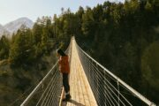 Golden Skybridge Suspension Bridge with Discover Banff Tours
