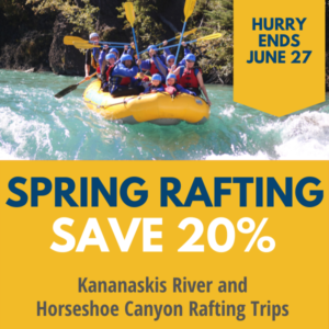 Save 20% on spring rafting with Discover Banff Tours